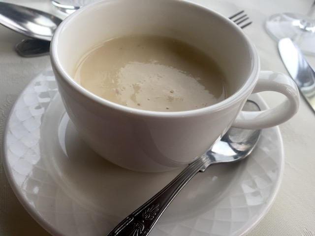 Tea cup sized Celeriac soup