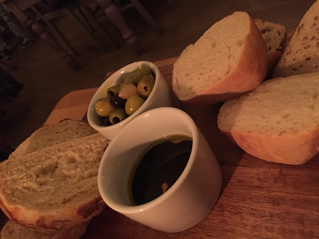 Bread and olives to share