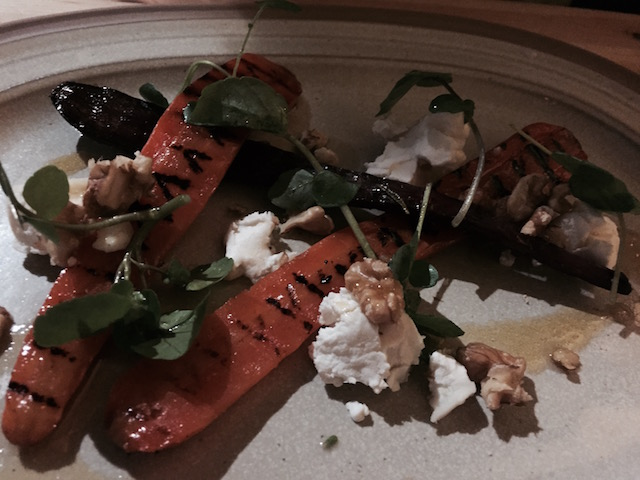 Roast Carrot, Goats Cheese and Walnut Salad
