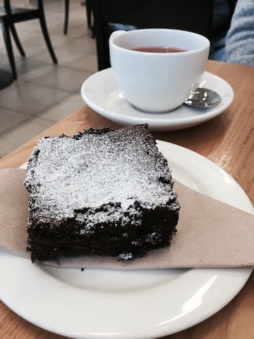 Coffee and a brownie
