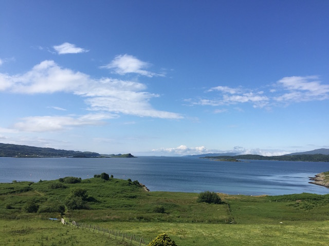 The view from Loch Melfort Hotel