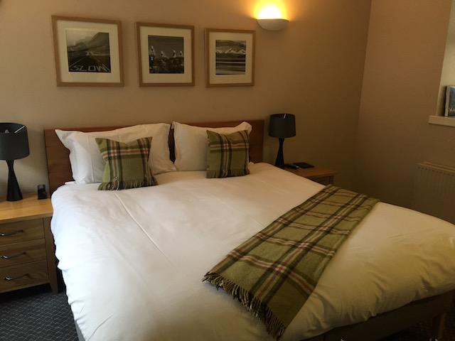 Our huge bed at The Torridon Inn