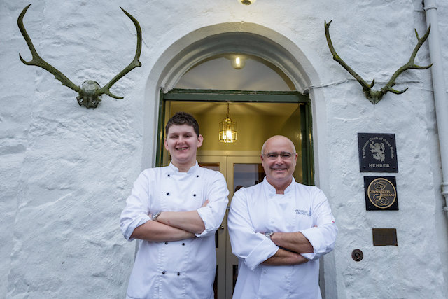 Marcello and Calum at Kinloch Lodge