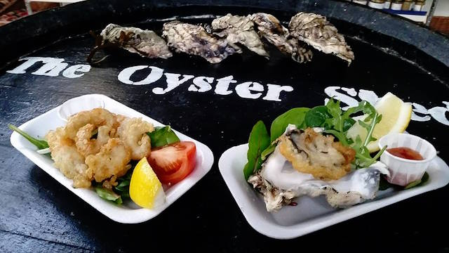 plate showing Skye Seafood at the Oyster Shed