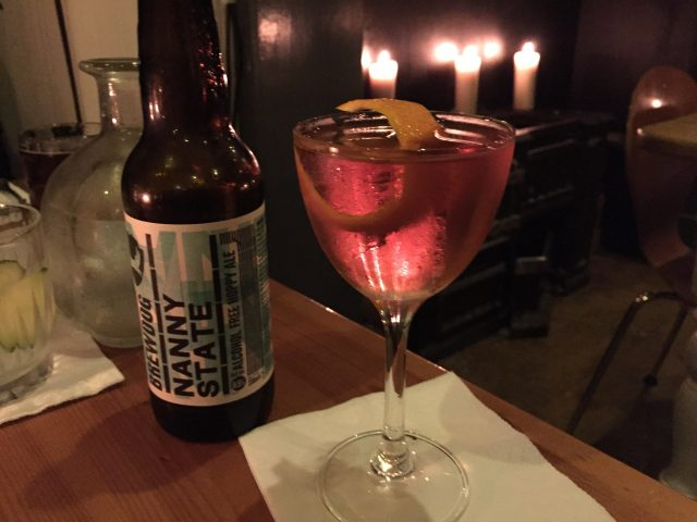 Brewdog Nanny State and an Aged Rob Roy at Hamilton's Bar and Kitchen