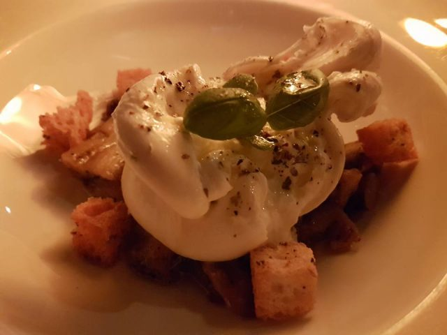 A plate at Divino Enoteca with Burrata Pugliese