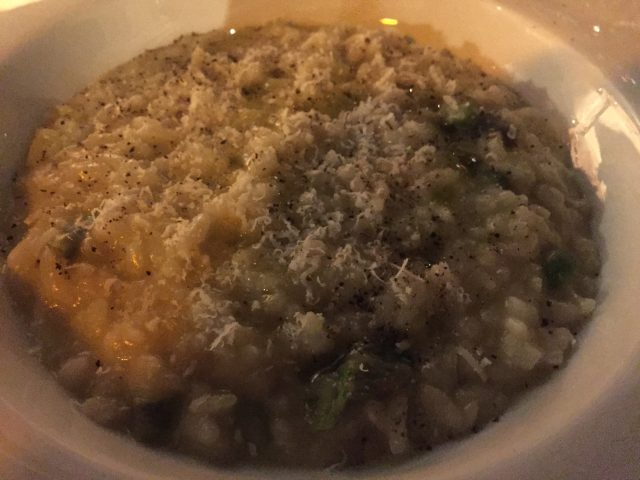 Plate of Risotto Asparagi E Liquirizia at Divino Enoteca