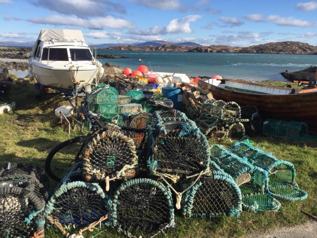 Fishing Creels in Iona