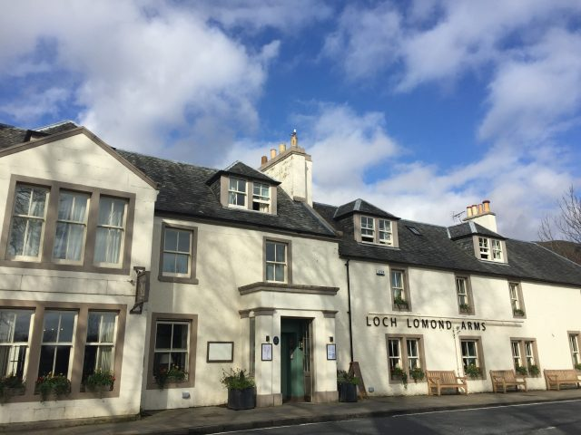 A photograph showing Loch Lomond Arms right in the heart of Loch Lomond and The Trossachs National Park in Luss