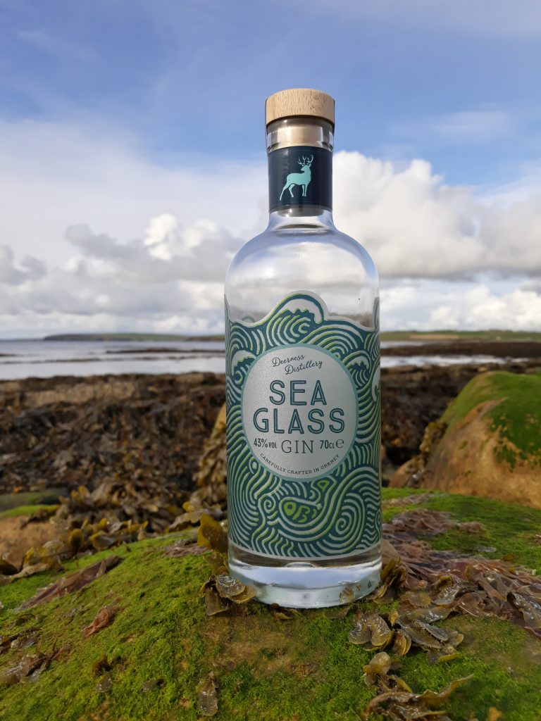 Deerness Distillery Orkney Sea Glass Gin And Into The